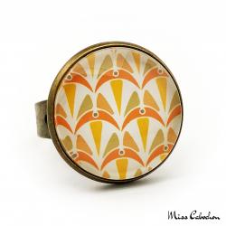 Bague - Collection Art déco - Camaïeu de oranges