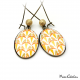 Drop earrings - Art deco collection - Shades of orange