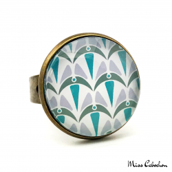 Ring - Art Deco Collection - Blue Camaïeu
