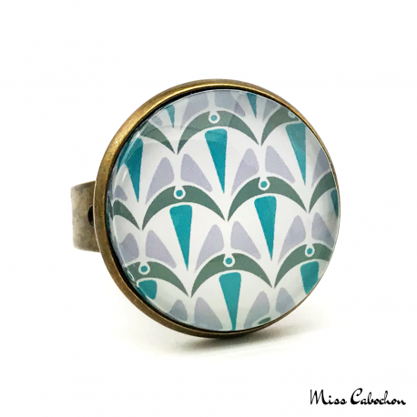 Ring - Art Deco Collection - Blue Camaïeu