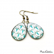 Teardrop earrings - Art deco collection - Shades of blue