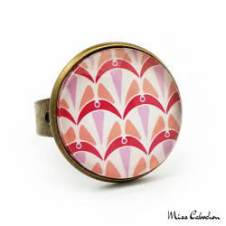 Ring - Art deco collection - Shades of red