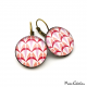 Round earrings - Art deco collection - Shades of red
