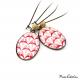 Boucles d'oreille ovales - Collection Art déco - Camaïeu de rouges