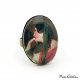 "Oval ring ""The young woman with a hat"""
