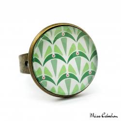 Bague - Collection Art déco - Camaïeu de verts