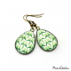 Boucles d'oreille - Collection Art déco - Camaïeu de verts