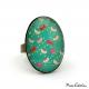 Blue-green fashion ring