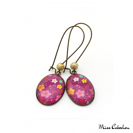 Dangle earrings - Floral inspiration