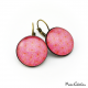 Pink earrings - Dandelion flowers