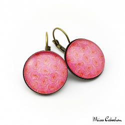 Round earrings - Floral inspiration