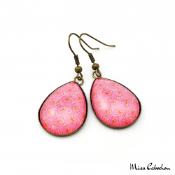 Pink cabochon earrings