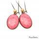 Boucles d'oreille ovales - Inspiration florale