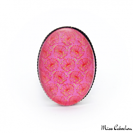Cabochon ring - Japanese inspiration