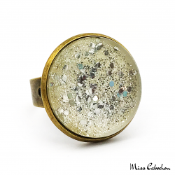 Fancy ring - Silver glitter