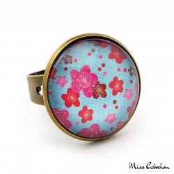 Bague cabochon - Inspiration florale