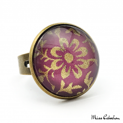 Purple and Gold Ring - Japanese Inspiration