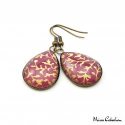 Cabochon earrings - Japanese inspiration