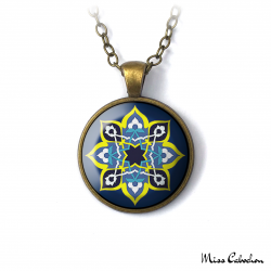 "Necklace ""Blue oriental"""