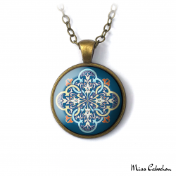 "Collier ""Arabesque bleue"""