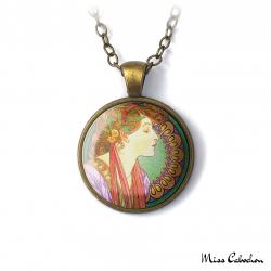 "Collier Art nouveau ""Le Laurier"""