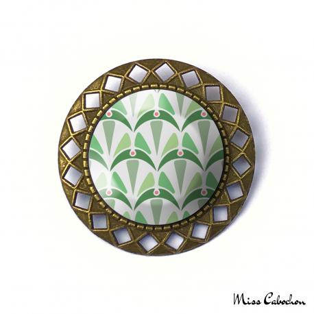 Broche - Collection Art déco - Camaïeu de verts