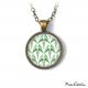 Collier - Collection Art déco - Camaïeu de verts