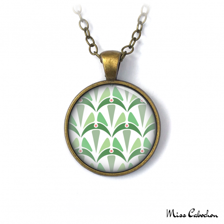 Necklace - Art deco collection - Shades of green