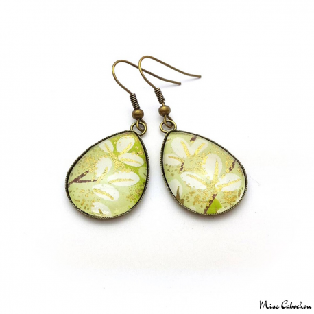 Japanese leaf earrings