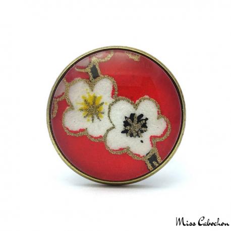 Cabochon ring - Japanese inspiration