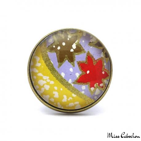 Bague cabochon - Inspiration japonaise