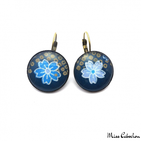 Ultramarine blue earrings