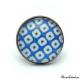 Bague Damier - Bleu et blanc