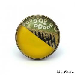 Bague d'inspiration japonaise Jaune, Vert et Or