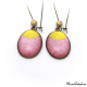 Dangle earrings - Golden Moon on Pink