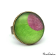 Fashion ring - Pink Moon on Green