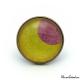 Bague Fantaisie - Lune Rose sur fond Jaune
