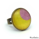 Fashion ring - Pink Moon on Yellow