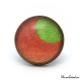 Bague Fantaisie - Lune Vert sur fond Orange