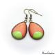 Boucles d'oreille en goutte d'eau - Lune Vert