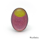 Oval fashion ring - Golden Moon on Pink