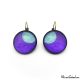 Round earrings - Blue Moon on Purple