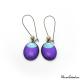 Boucles d'oreille ovales - Lune Bleue