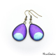 Teardrop earrings - Blue Moon on Purple