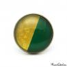 Bague Bicolore - Or et Vert Olive