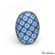 Bague ovale - Damier - Bleu et blanc