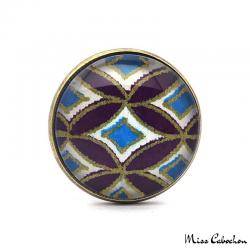 Bague bleue et violette d'inspiration japonaise