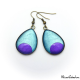 Teardrop earrings - Purple Moon on Blue