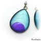 Boucles d'oreille en goutte d'eau - Lune Violette