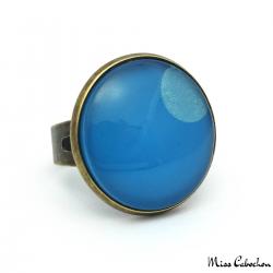 Blue camaieu ring